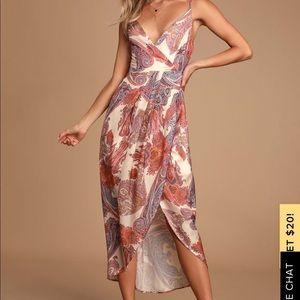 Lulus Paisley midi dress